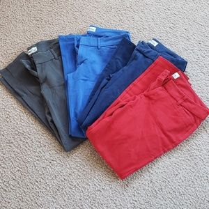 x4 Pairs! Blue Dark Blue Red Gray Old Navy Pants
